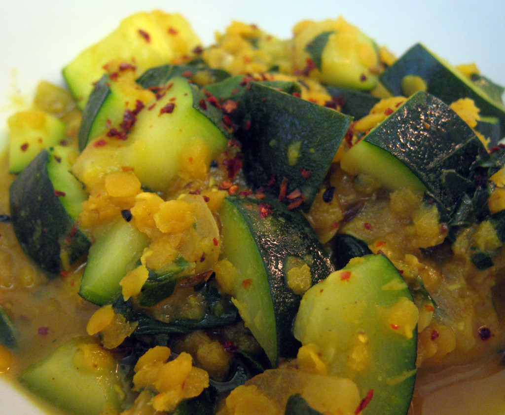 Red Lentils with Zucchini