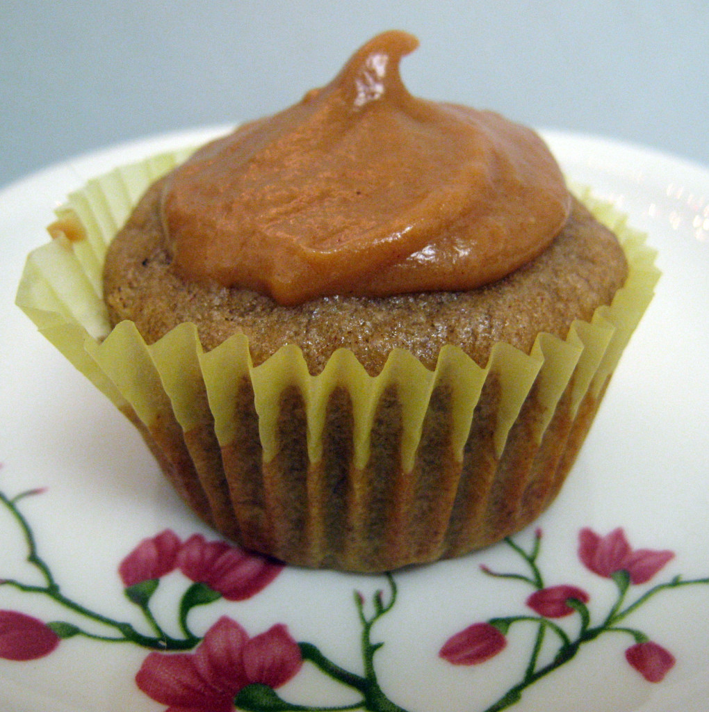 Banana Cupcakes with Peanut Butter Penuche Frosting