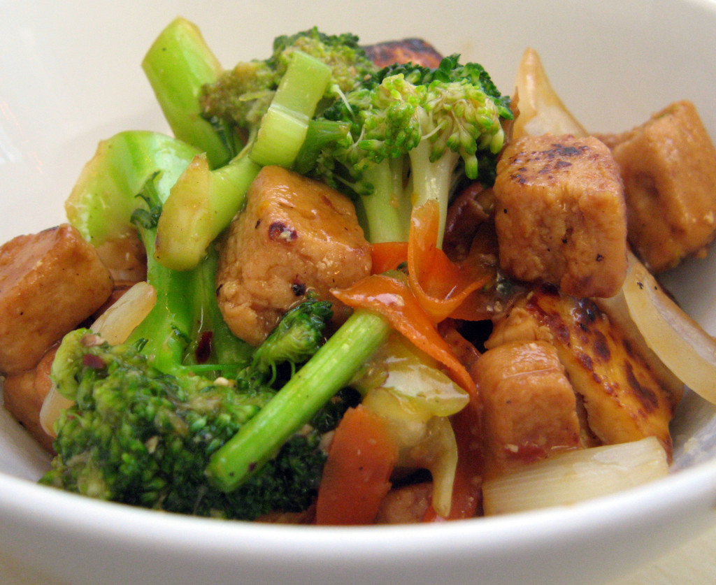 Orange Chick'n, Tofu and Broccoli