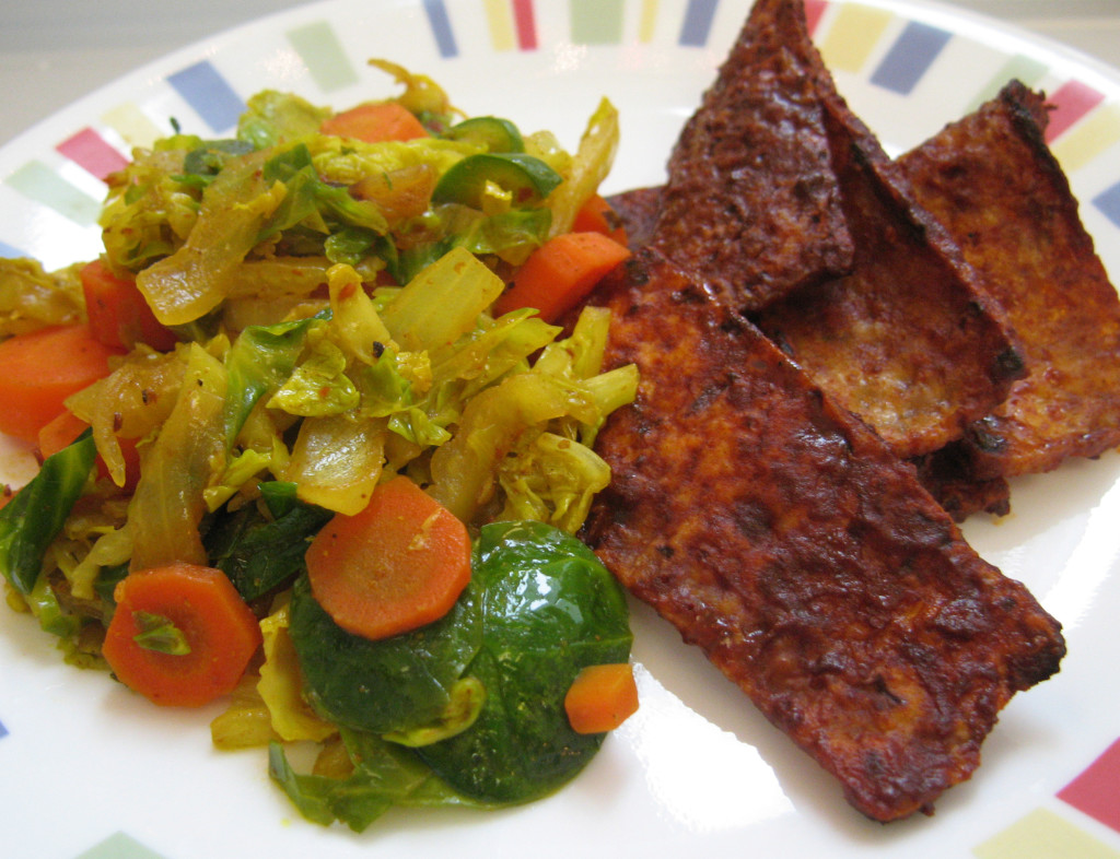 Corned Tofu and Cabbage